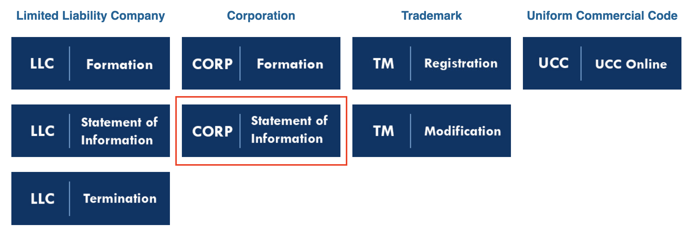 select corporation statement of information